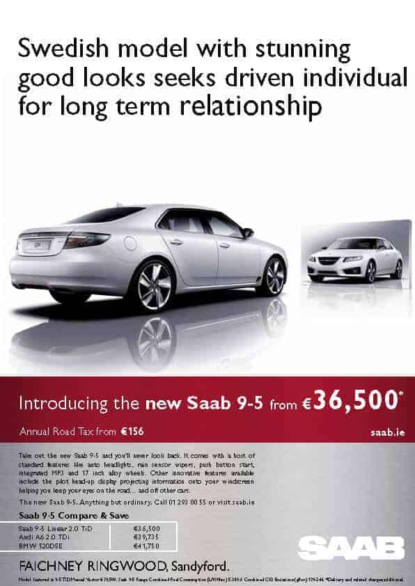 Saab 9-5 launch FACH_RING